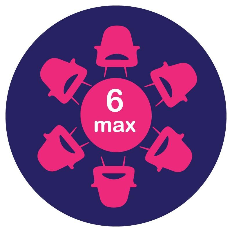 Αυτοκόλλητο Τραπεζιού - 6 max