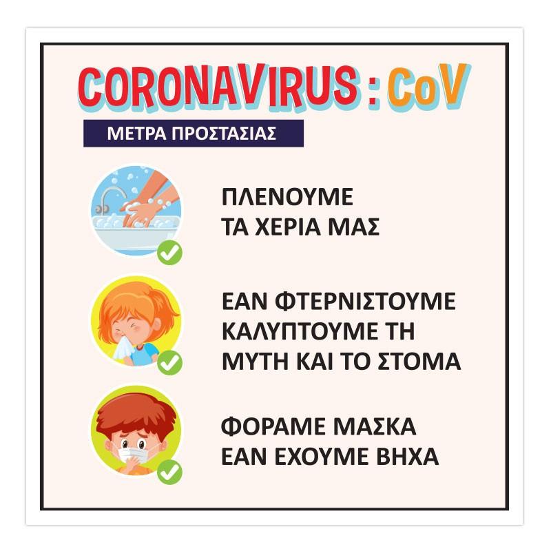 CORONAVIRUS ΜΕΤΡΑ ΠΡΟΣΤΑΣΙΑΣ