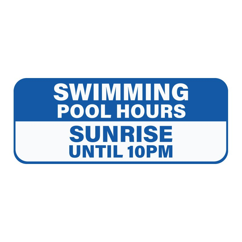 SWIMMING POOL HOURS