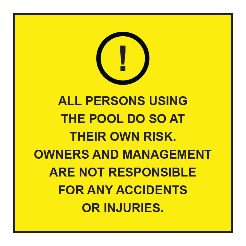 ALL PERSON USING THE POOL...
