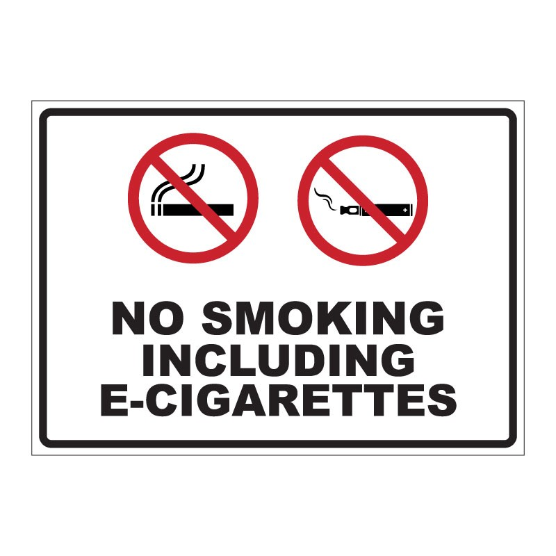 NO SMOKING INCLUDING E-CIGARETTES