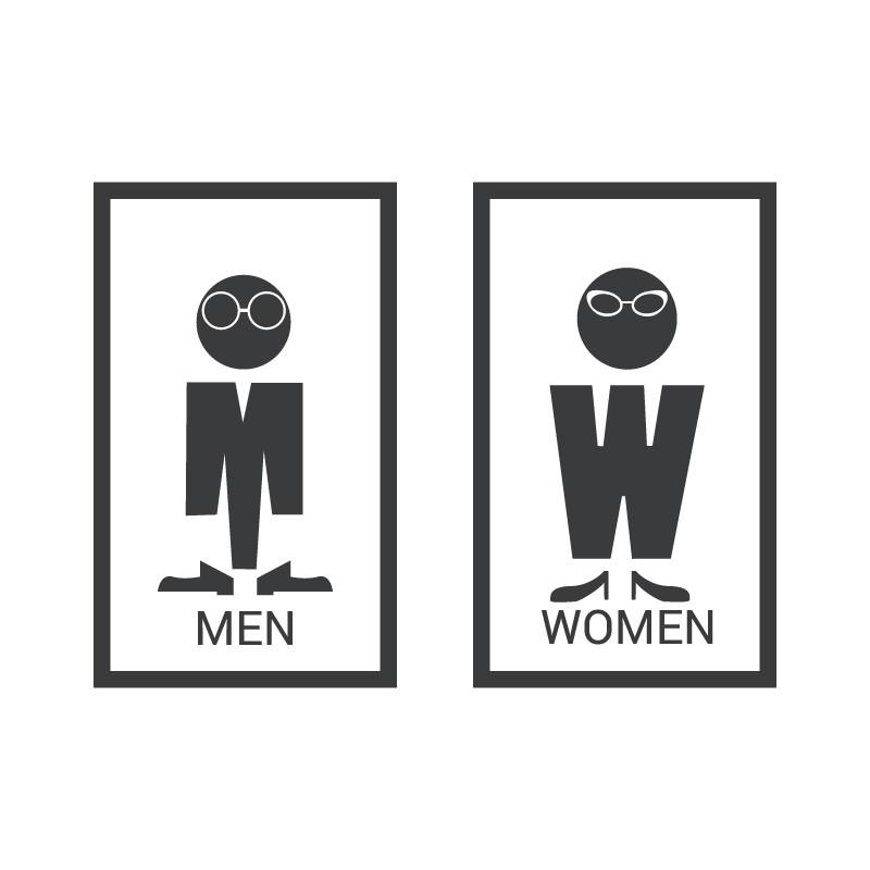 Men women με γυαλιά