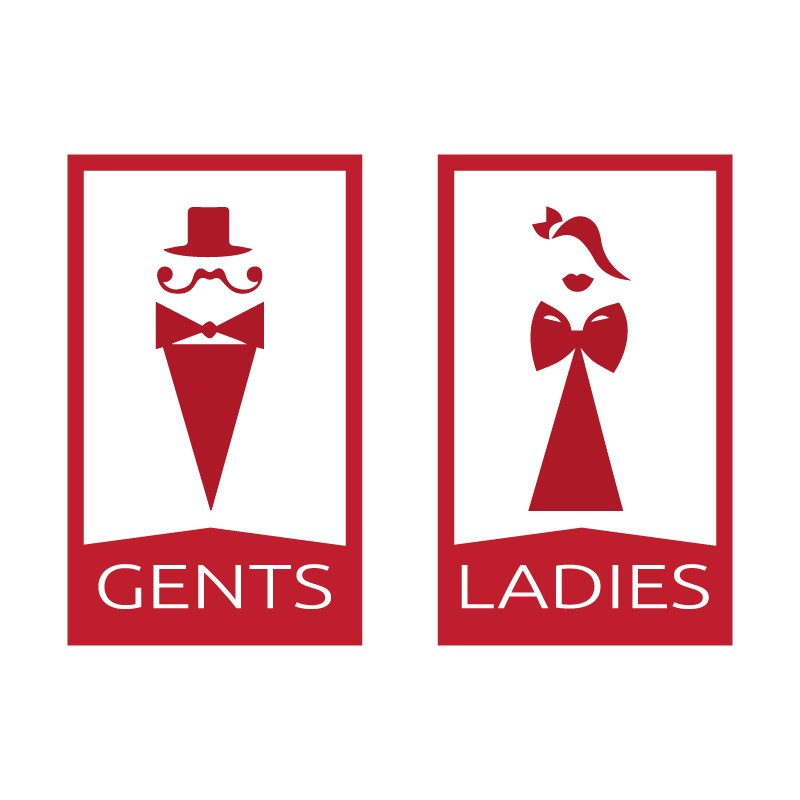 Gents and ladies in red