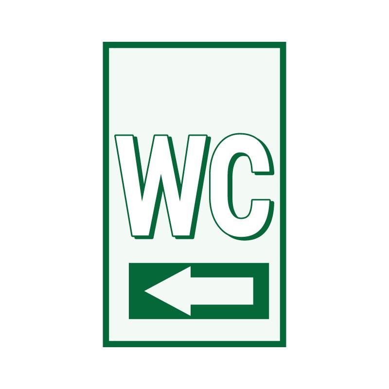 WC αριστερά πράσινο