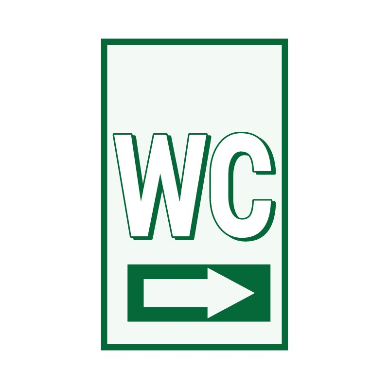 WC δεξιά πράσινο