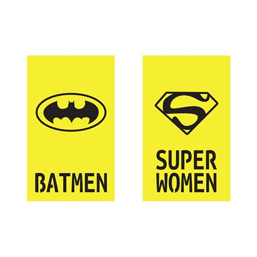 Batmen and super Women