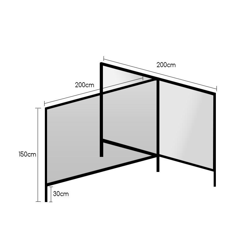 STAND T 200Χ150 (2 ΤΕΜΑΧΙΑ) |  plexiglass