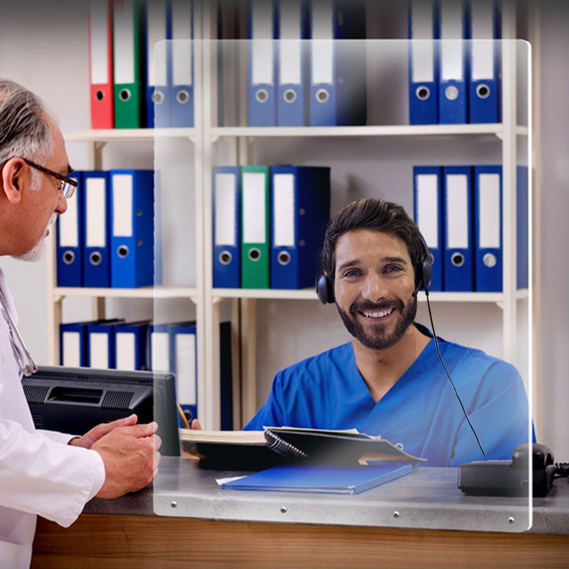 Διαχωριστικό Γραφείου Βιδωτό |  plexiglass