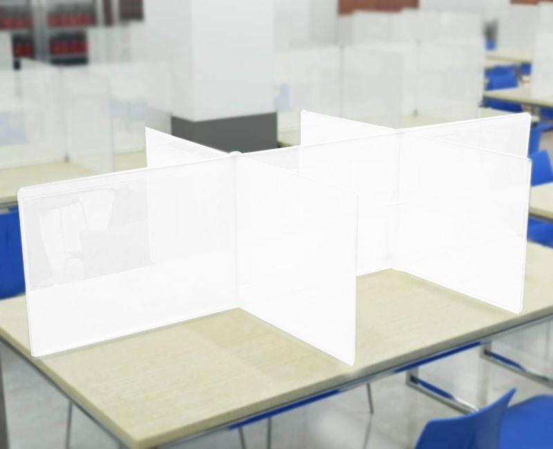 Διαχωριστικό Προστασίας | Άσπρο (5mm) 3 Θέσεων 180x60 ύψος | plexiglass