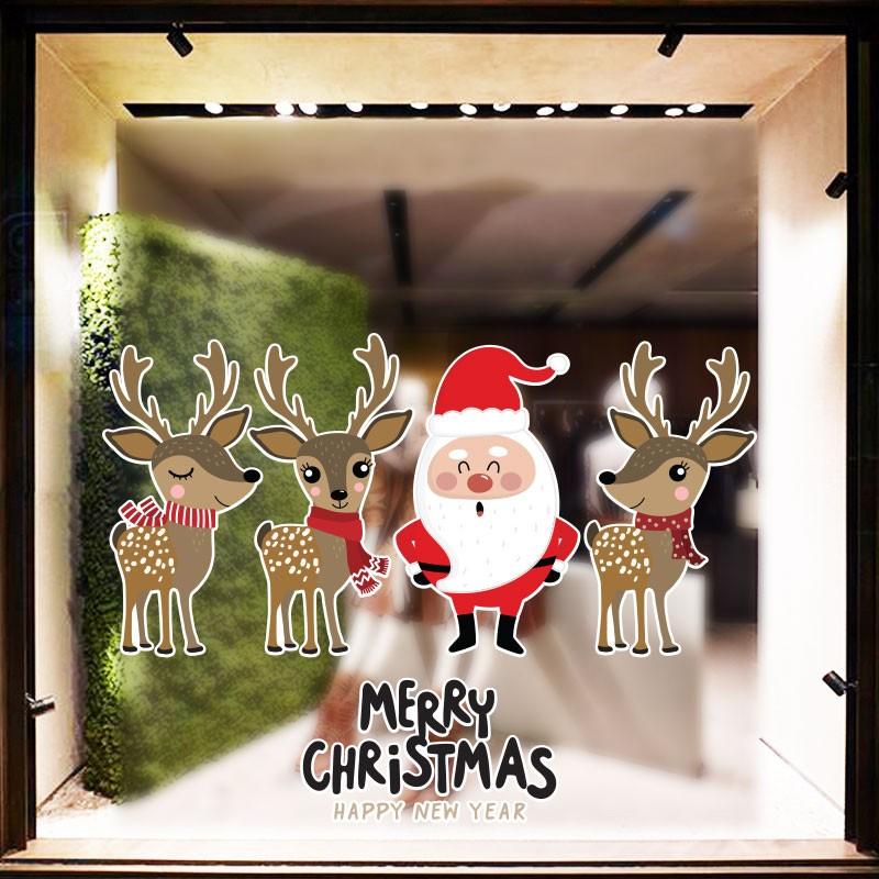 Santa Claus With Reindeers