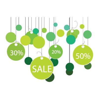 Sales κρεμαστά στρογγυλά καρτελάκια