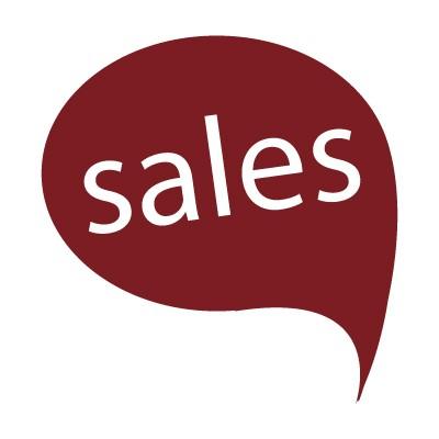 Sales σε χρωματιστό σύννεφο ομιλίας