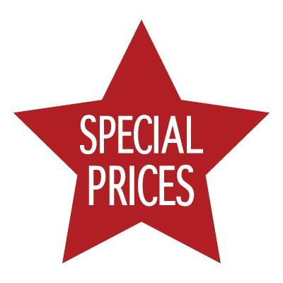 Special price μέσα σε χρωματιστό αστέρι