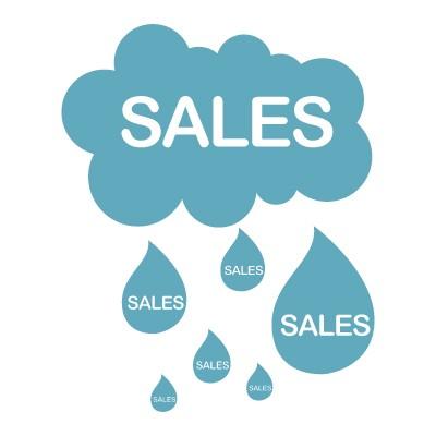 Sales σύννεφο με βροχή