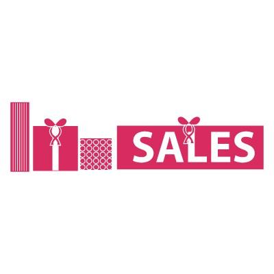 Χρωματιστό Sales και κουτιά από δώρα