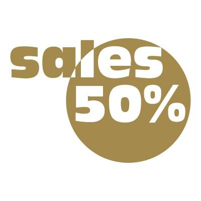 Sales 50%