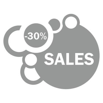 Sales -30% bubbles