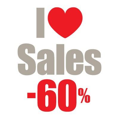 I love sales -60% με καρδιά