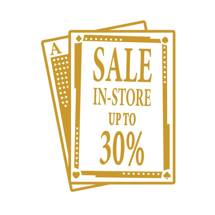 Sale in store up to 30%