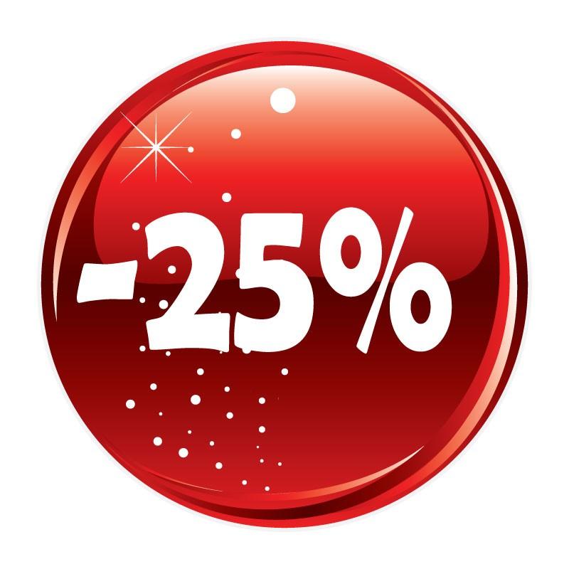 - 25%