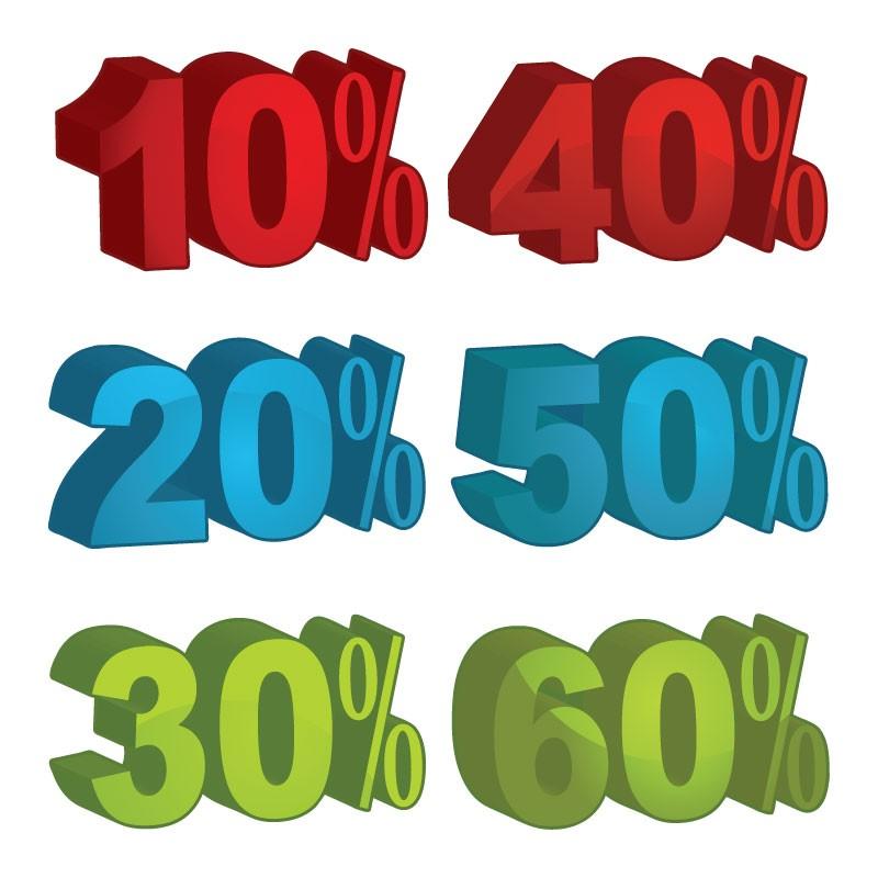 10%, 20%, 30%