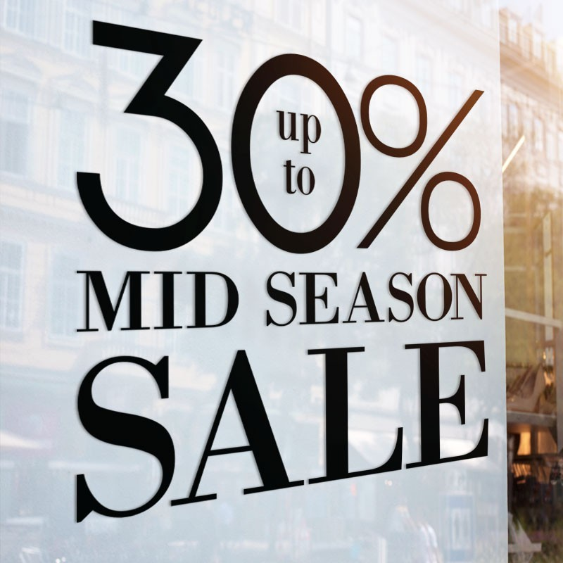 Mid sale up to 30%