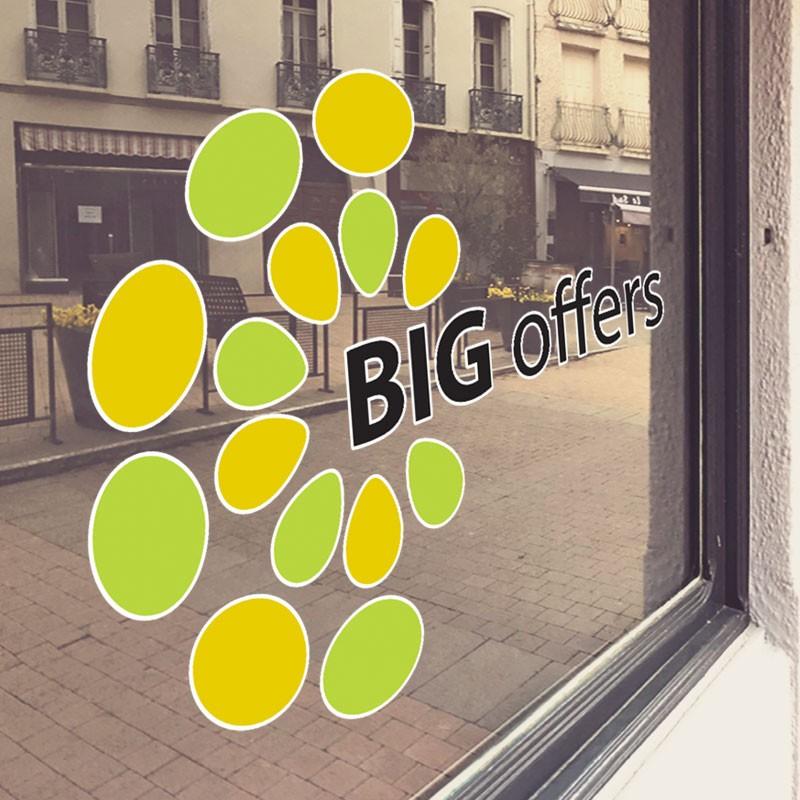 Big offers κίτρινα-πράσινα σχέδια