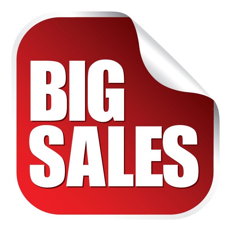 Big sales αυτοκόλλητο που ξεκολλάει