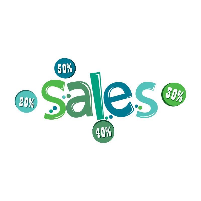 Sales πράσινο- μπλε