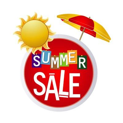 Summer Sale πολύχρωμα γράμματα