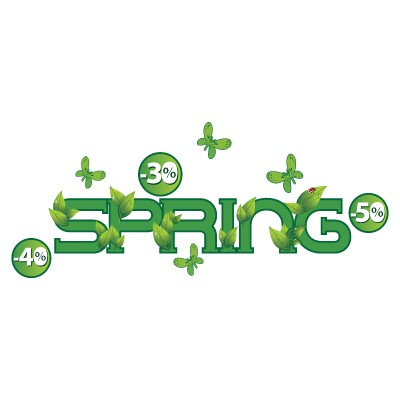 Spring πράσινα γράμματα