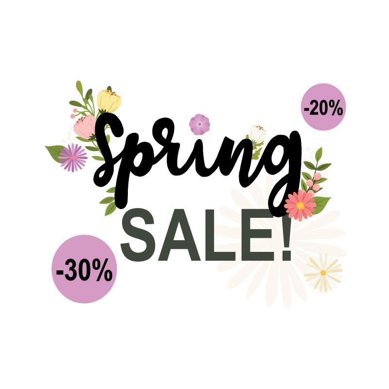 Spring Sale Με Ποσοστά Εκπτώσεων