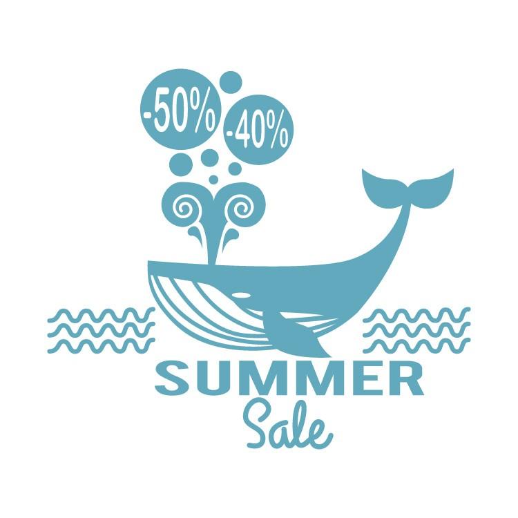 Summer sale μπλε φάλαινα