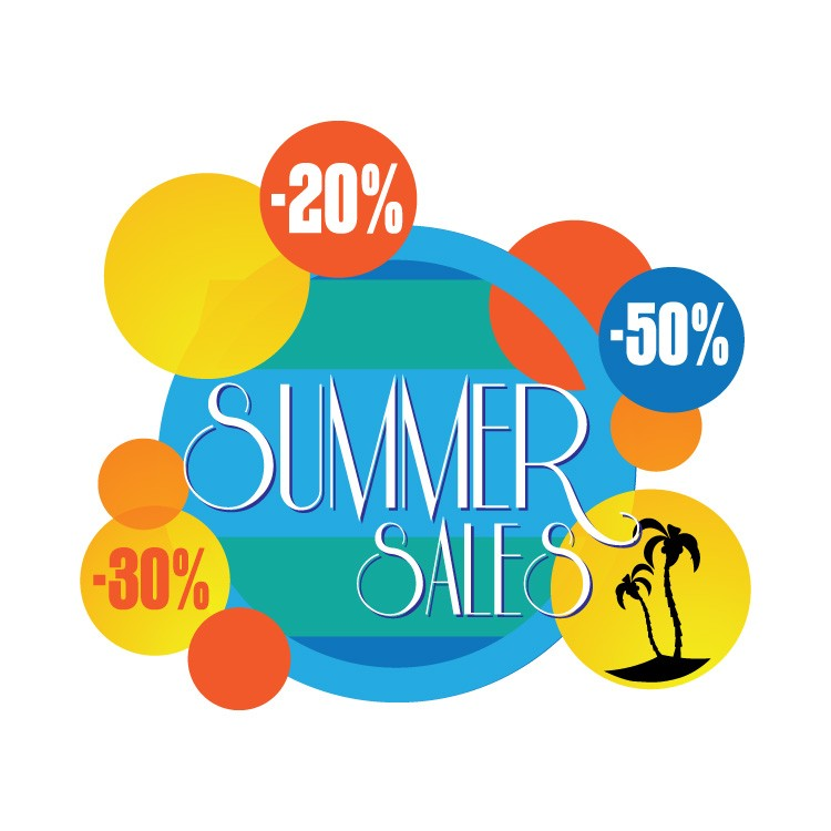 Summer sales bubbles
