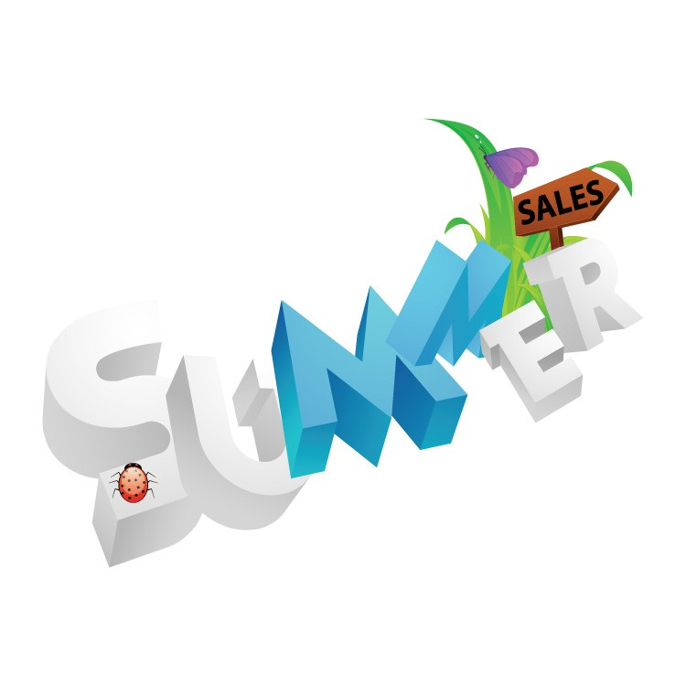 Summer λευκά μπλε γράμματα