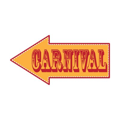 Πορτοκαλί Carnival βέλος
