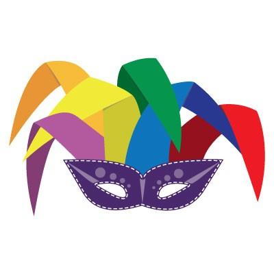 Μωβ μάσκα με χρώματα