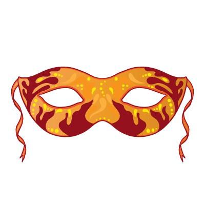 Πορτοκαλί - κόκκινη μάσκα