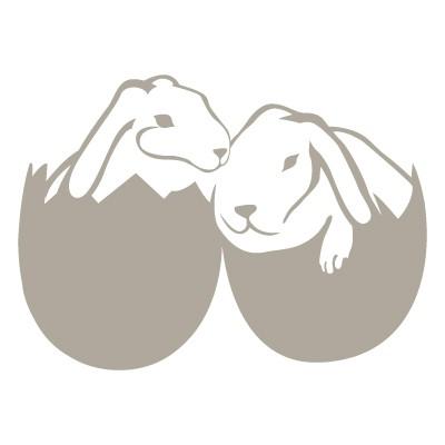 Λαγουδάκια μέσα σε αυγά πασχαλινά