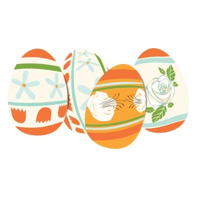 Πορτοκαλί Πασχαλινά αυγά