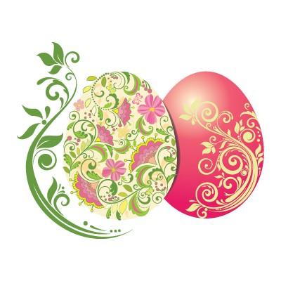 Πασχαλινά Αυγά με Χρωματιστά λουλούδια
