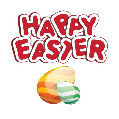 Happy Easter Red Letters