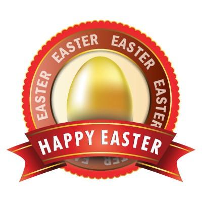 Happy Easter gold egg