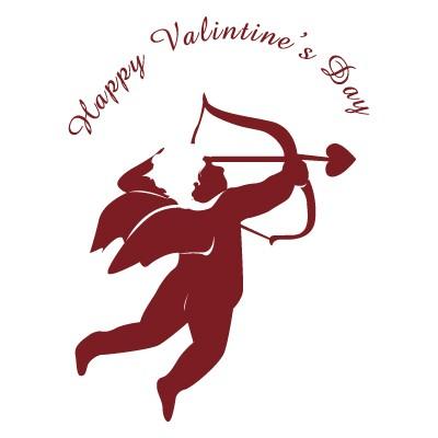 Happy valentines Day αγγελιοφόρος του έρωτα