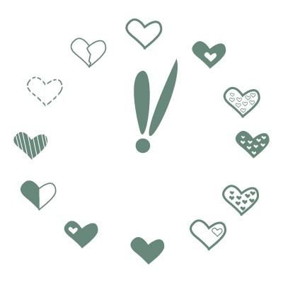 Καρδούλες Ρολόι