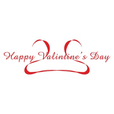 Happy valentines Day κορδέλα που σχηματίζει καρδιά