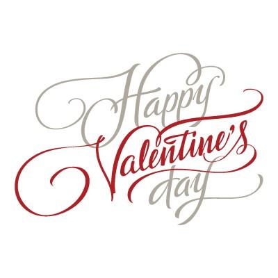 Happy valentines Day Καλλιγραφικά γράμματα