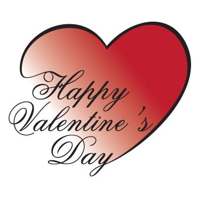 Happy Valentines Day γραμμένο μέσα σε καρδιά
