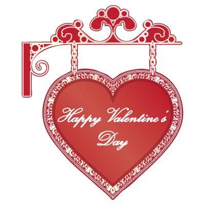 Happy Valentines Day καρδιά κρεμαστή