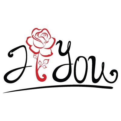 I Love you τριαντάφυλλο